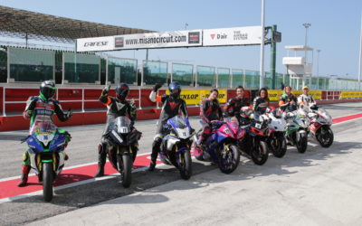 With Dunlop at Misano for a challenge from the track to the web